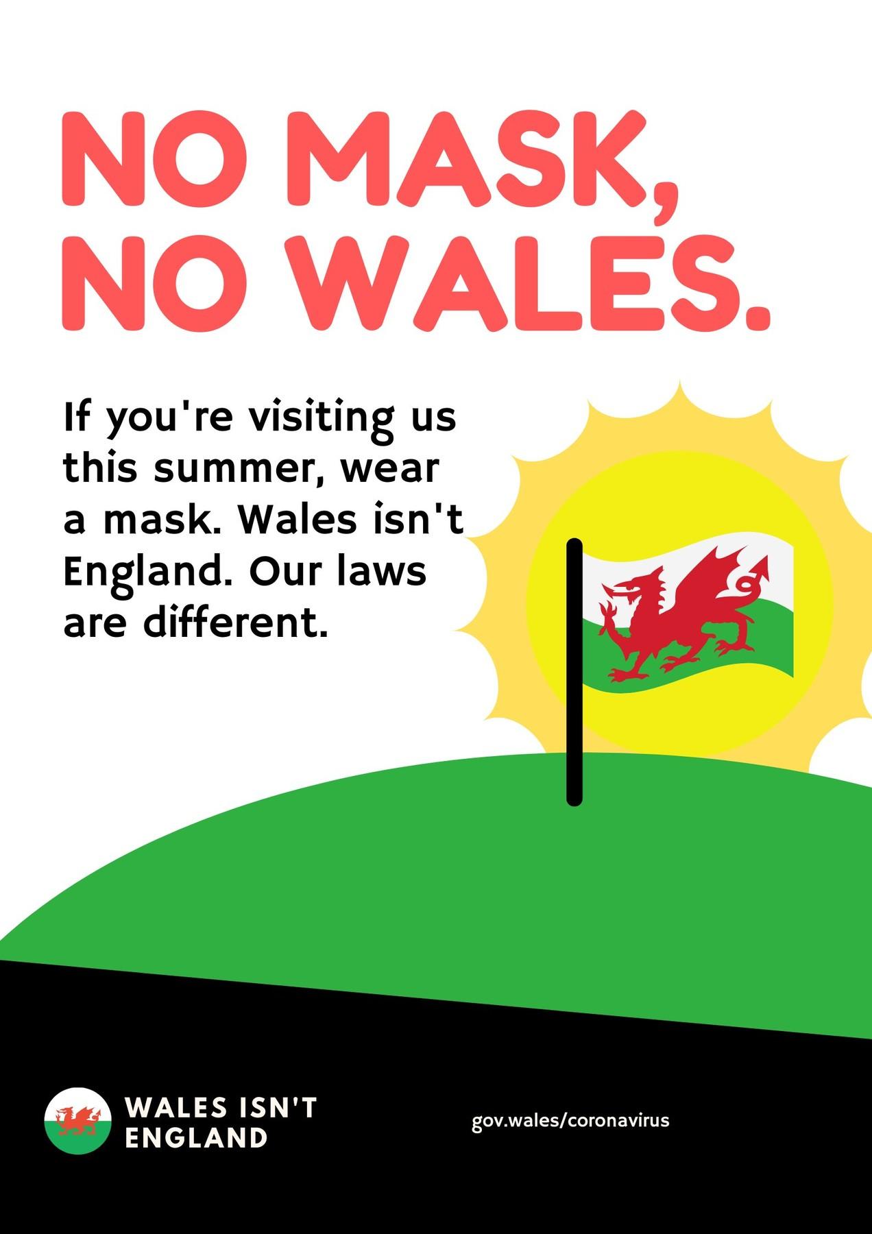 no mask, no Wales