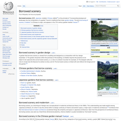 Borrowed scenery - Wikipedia