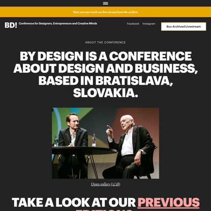 By Design online Conference 2021
