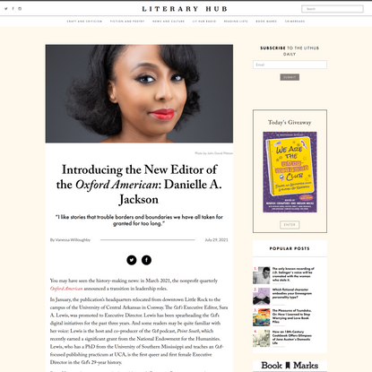 Introducing the New Editor of the Oxford American: Danielle A. Jackson