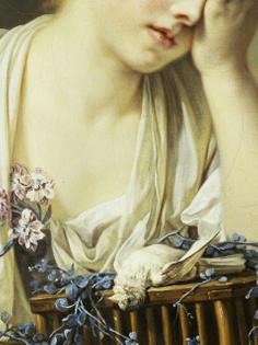 Girl with Dead Canary, Jean-Baptiste Greuze  (1725–1805)