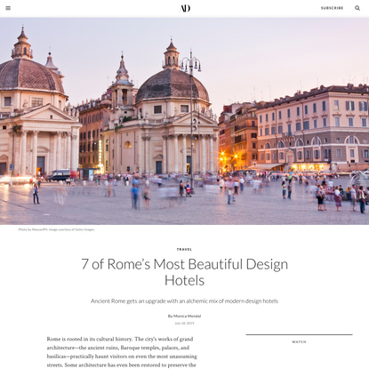 7 of Rome's Most Beautiful Design Hotels