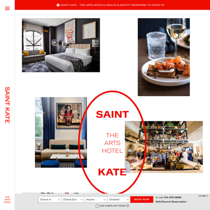 Saint Kate | Milwaukee Hotels | Saint Kate - The Arts Hotel