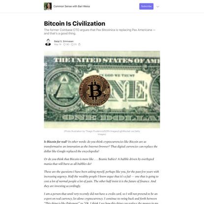 Bitcoin Is Civilization