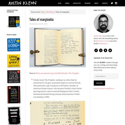 Tales of marginalia - Austin Kleon