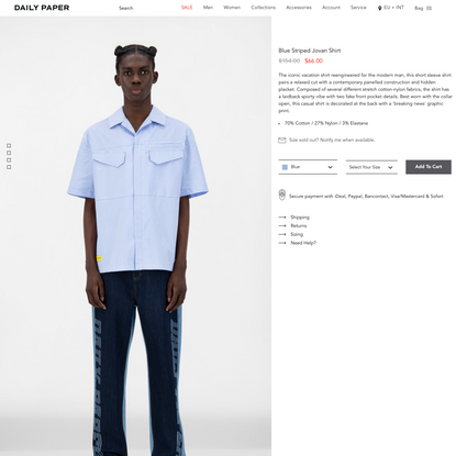 Blue Striped Jovan Shirt