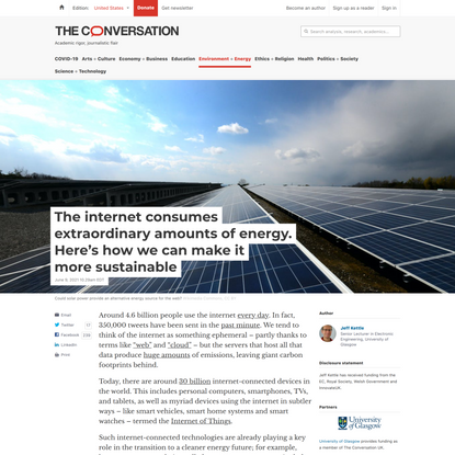 The internet consumes extraordinary amounts of energy. Here's how we can make it more sustainable