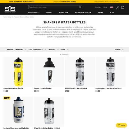 Protein Shaker Bottles & Sports Water Bottles | Science In Sport