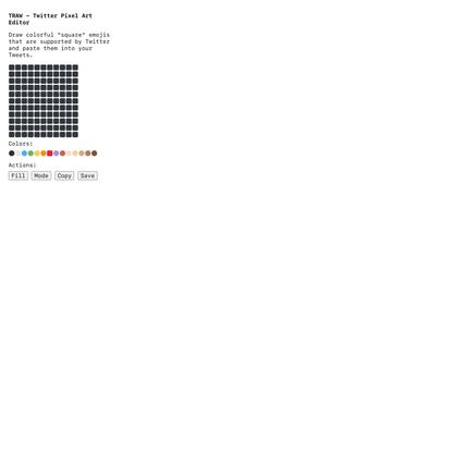 TRAW - Twitter Pixel Art Editor