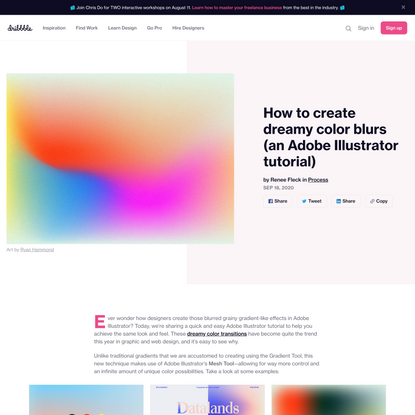 How to create dreamy color blurs (an Adobe Illustrator tutorial)