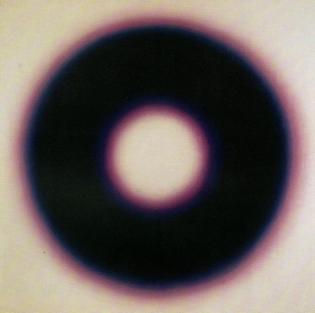 E 10, 1966   by Wojciech Fangor (Polish, 1922–2015),oil on canvas, 127.5 × 127 cm, National Museum, Warsaw