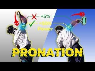 Perfect Serve PRONATION Technique For Massive POWER & SPIN