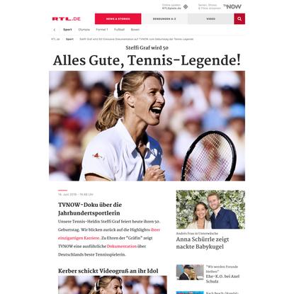 Steffi Graf wird 50! Exklusive Dokumentation auf TVNOW zum Geburtstag der Tennis-Legende