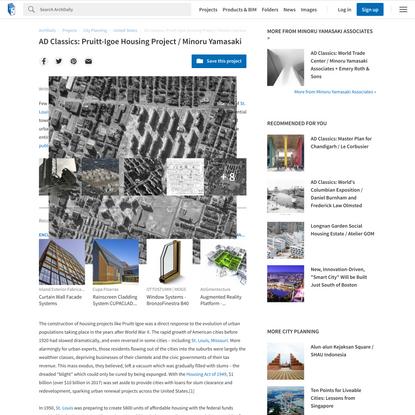 AD Classics: Pruitt-Igoe Housing Project / Minoru Yamasaki