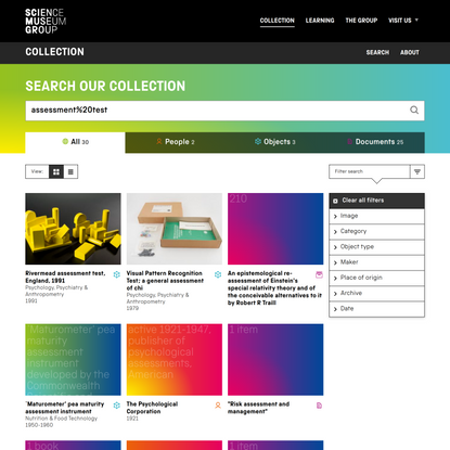 Science Museum Group Collection: vintage teaching and learning assessment tools