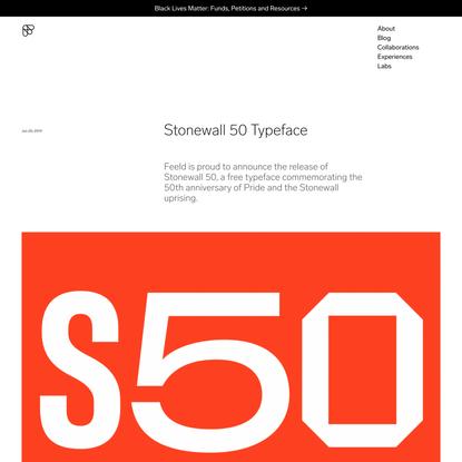 Stonewall 50 Typeface