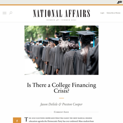 Is There a College Financing Crisis?