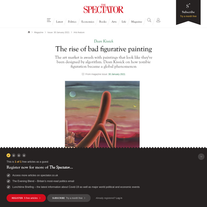 The rise of bad figurative painting   The Spectator