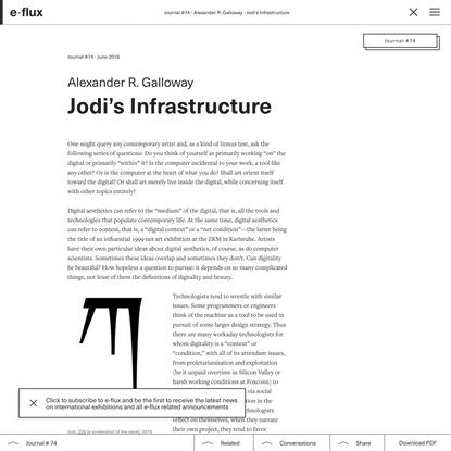 Jodi's Infrastructure