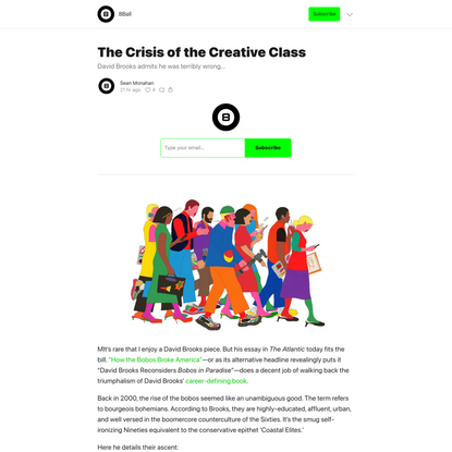 The Crisis of the Creative Class
