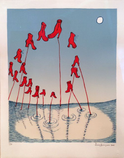 Louise Bourgeois, The Night (2001) Color lithograph