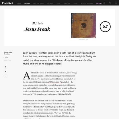 DC Talk: Jesus Freak Album Review   Pitchfork