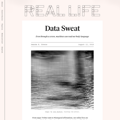 Data Sweat — Real Life