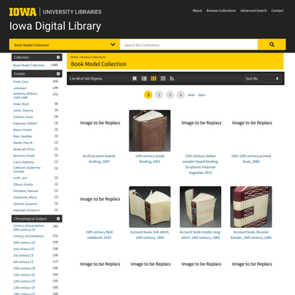 Book Model Collection   The University of Iowa Libraries