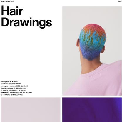 Hair Drawings - Sometimes Always