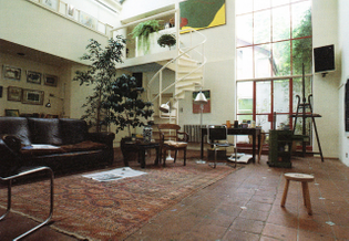A large studio with gallery
