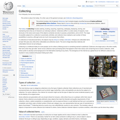 Collecting - Wikipedia