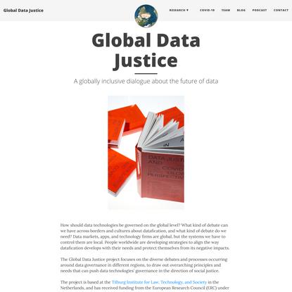 Global Data Justice