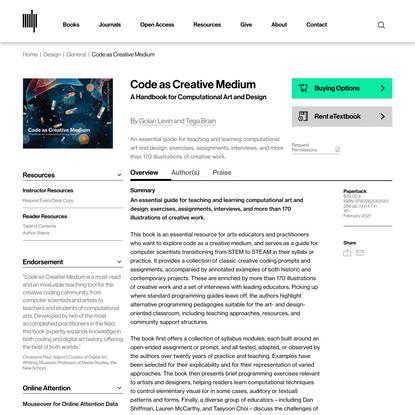 Code as Creative Medium