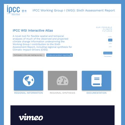 IPCC AR6-WGI Atlas