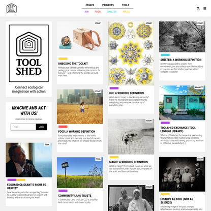 Toolshed - Connects ecological imagination with action
