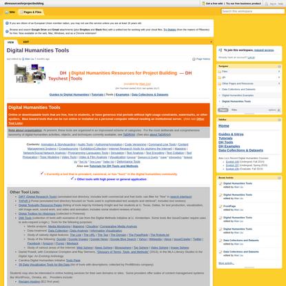 Digital Humanities Tools
