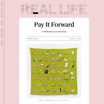 Pay It Forward — Real Life