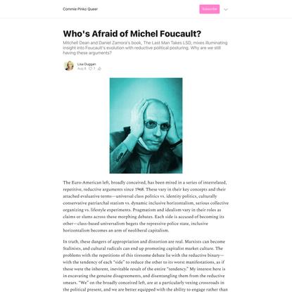 Who's Afraid of Michel Foucault?
