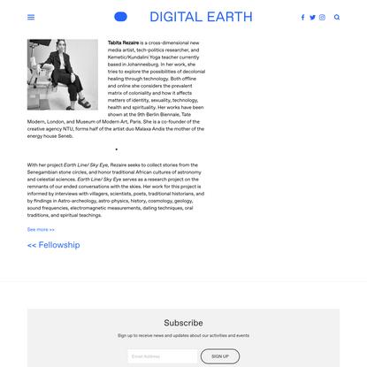 Fellow - Tabita Rezaire — Digital Earth