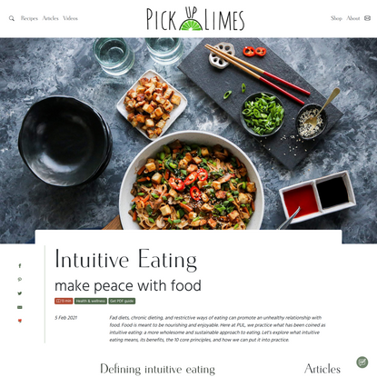 Intuitive Eating, make peace with food