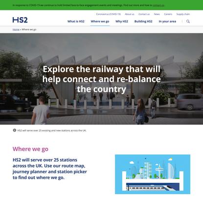 Where we go | High Speed 2