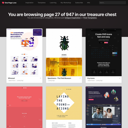One Page Love - One Page Website Inspiration and Templates (Page 27 of 947)