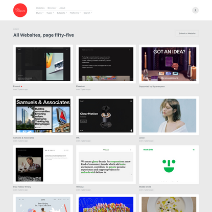 All Websites, page fifty-five — Siteinspire