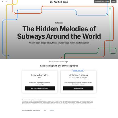 The Hidden Melodies of Subways Around the World