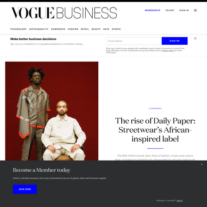 The rise of Daily Paper: Streetwear's African-inspired label | Vogue Business
