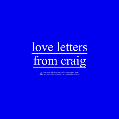 love letters from craig