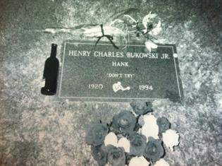 Bukowski's gravestone