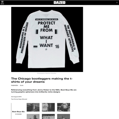 The Chicago bootleggers making the t-shirts of your dreams