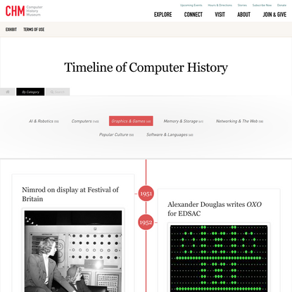 Graphics & Games   Timeline of Computer History   Computer History Museum