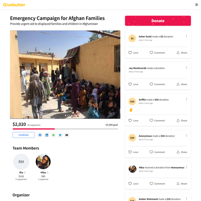Emergency Campaign for Afghan Families